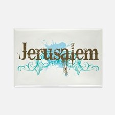 Jerusalem Rectangle Magnet