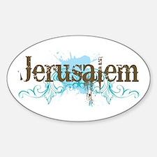 Jerusalem Oval Decal