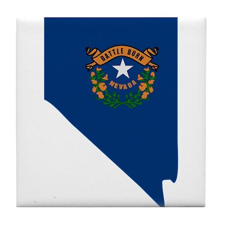 Nevada Stripe Custom Design Tile Coaster