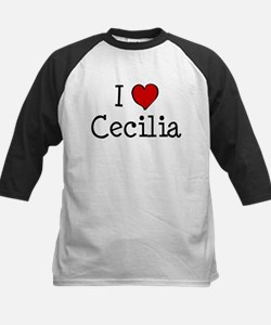I love Cecilia Kids Baseball Jersey