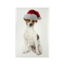 Jack Russell Terrier Xmas Rectangle Magnet