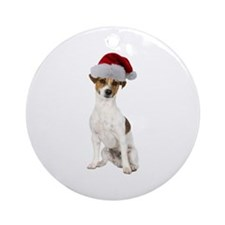 Jack Russell Terrier Xmas Ornament (Round)