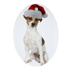 Jack Russell Terrier Xmas Oval Ornament