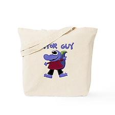 Purple Gator Tote Bag