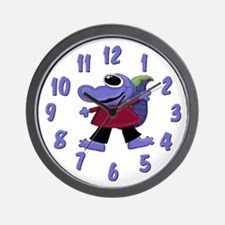 Purple Gator Wall Clock