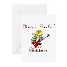 Rockin guitar drums Greeting Cards (Pk of 10)