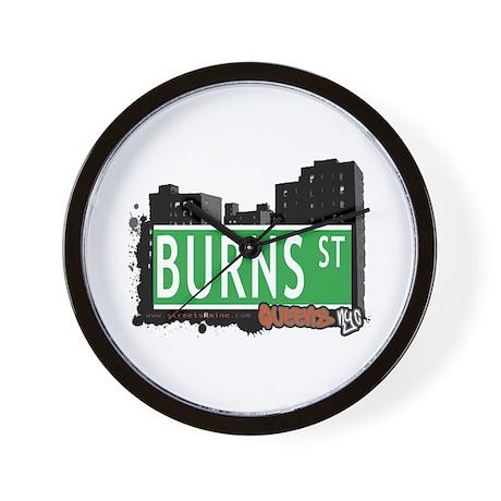 BURNS STREET, QUEENS, NYC Wall Clock