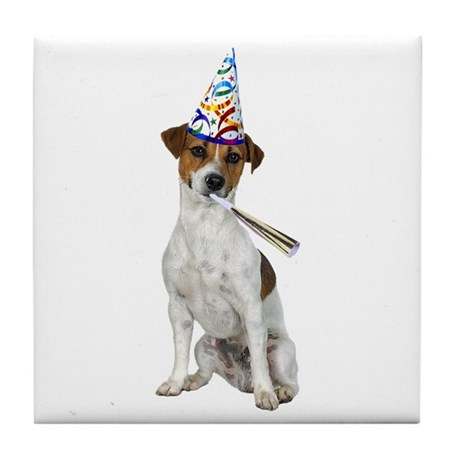 Jack Russell Terrier Party Tile Coaster