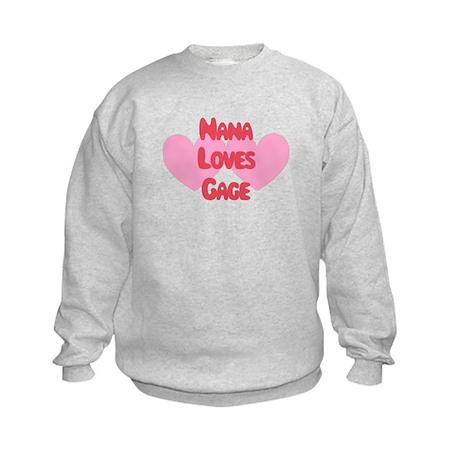 Nana Loves Gage Kids Sweatshirt