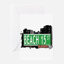 BEACH 15 STREET, QUEENS, NYC Greeting Card