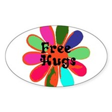 Free HUGS! Oval Decal