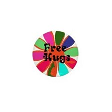 Free HUGS! Mini Button