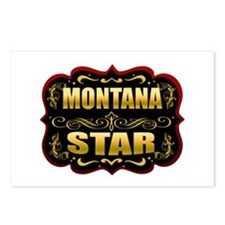 Montana Star Gold Badge Seal Postcards (Package of