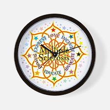 Multiple Sclerosis Lotus Wall Clock
