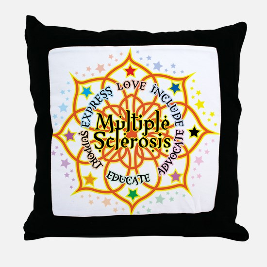 Multiple Sclerosis Lotus Throw Pillow