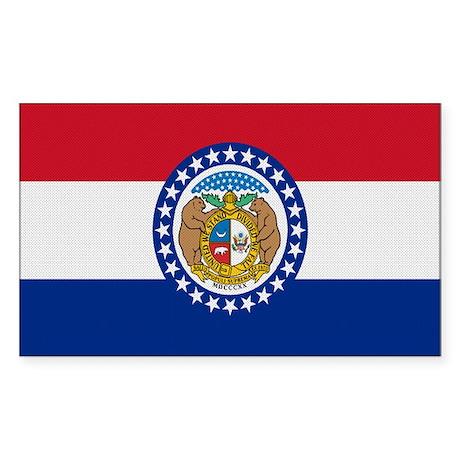 Beloved Missouri Flag Modern Rectangle Sticker