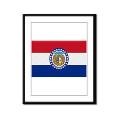 Beloved Missouri Flag Modern Framed Panel Print