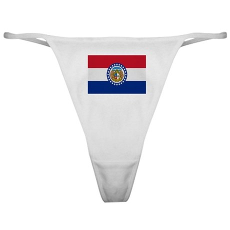 Beloved Missouri Flag Modern Classic Thong