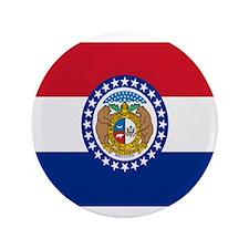 """Beloved Missouri Flag Modern 3.5"""" Button"""