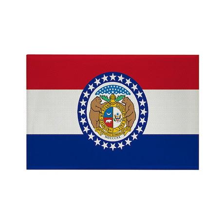 Beloved Missouri Flag Modern Rectangle Magnet