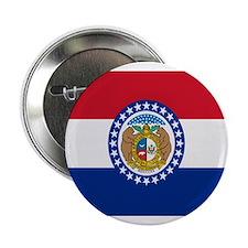 """Beloved Missouri Flag Modern 2.25"""" Button"""