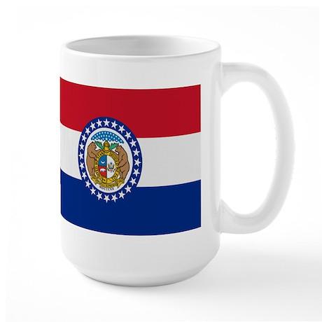 Beloved Missouri Flag Modern Large Mug