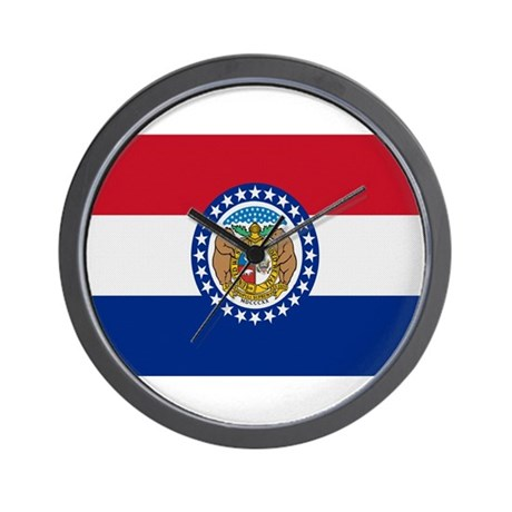 Beloved Missouri Flag Modern Wall Clock