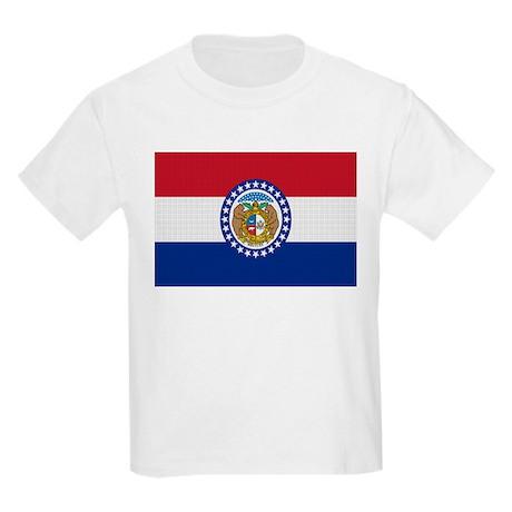 Beloved Missouri Flag Modern Kids Light T-Shirt