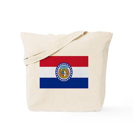 Beloved Missouri Flag Modern Tote Bag