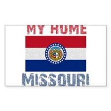 My Home Missouri Vintage Styl Rectangle Decal