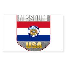 Missouri USA Crest Rectangle Decal