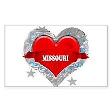My Heart Missouri Vector Styl Rectangle Decal