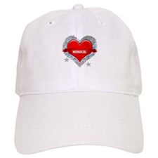 My Heart Missouri Vector Styl Baseball Cap