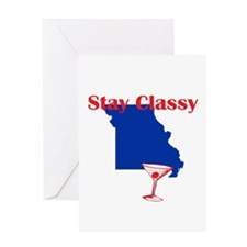 Stay Classy Missouri Greeting Card