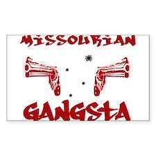 Missourian Gangsta Rectangle Sticker 10 pk)