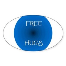 Free Hugs 2 Oval Decal