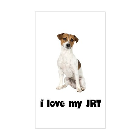 Jack Russell Terrier Lover Rectangle Sticker