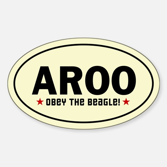 AROO - Obey the Beagle! Oval Decal