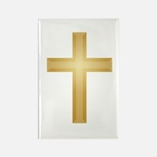 Gold Cross Rectangle Magnet (10 pack)