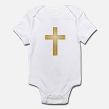 Gold Cross Onesie