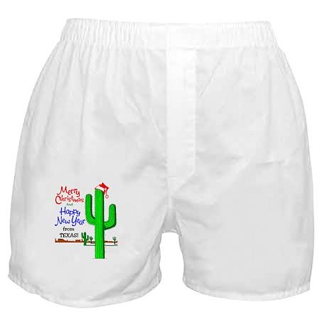 Texas Christmas Boxer Shorts
