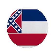 """Beloved Mississippi Flag Mode 3.5"""" Button"""