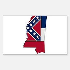Mississippi Stripe Custom Des Rectangle Decal