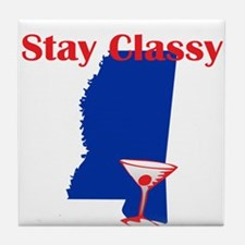 Stay Classy Mississippi Tile Coaster