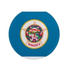 "Beloved Minnesota Flag Modern 3.5"" Button"