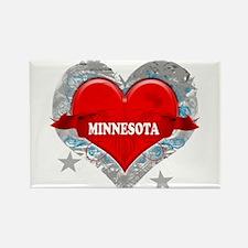 My Heart Minnesota Vector Sty Rectangle Magnet