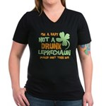 Baby Not Leprechaun Women's V-Neck Dark T-Shirt