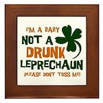Baby Not Leprechaun Framed Tile