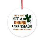 Baby Not Leprechaun Ornament (Round)