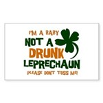 Baby Not Leprechaun Rectangle Sticker 10 pk)
